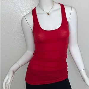 Splits Fifty Nine 59 Red Ribbed Tank Top Medium